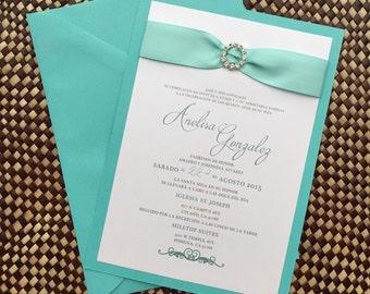 Quinceañera - Quince - Sweet 16 - Wedding Invitation