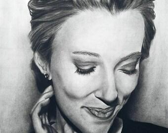 Celebrity Charcoal Portrait
