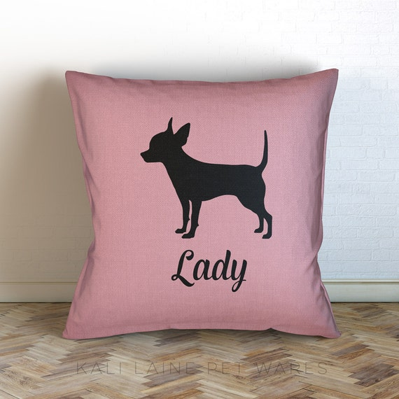 Decorative Pillows Dogs : Personalized Dog Name Decorative Throw Pillow/ chihuahua
