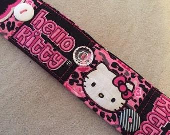 Hello Kitty fabric bracelet