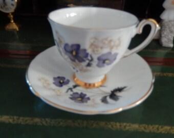 ENGLAND ROYAL ETON Staffordshire Teacup and Saucer