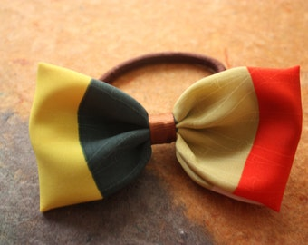 Bow girl hair, multicolor, 10, 5 x 5, 5 cm, trim hair, elegant, hair accessory, newcoletero elastic, made of synthetic fabric