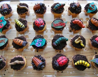 Edible Bug Cupcake Toppers.
