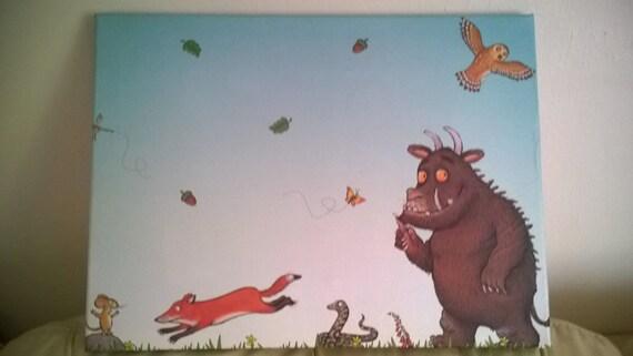 Childrens Canvas Wall Art Gruffalo Boys Room Girls By