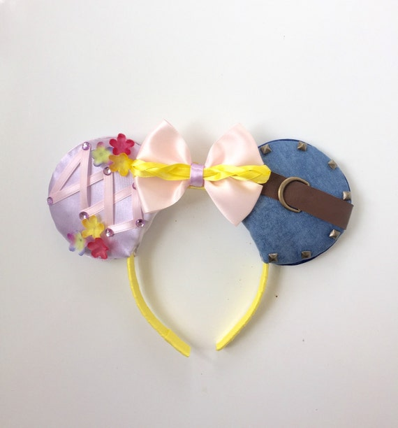 Tangled Disney Ears Rapunzel and Flynn Rider Tangled Mickey