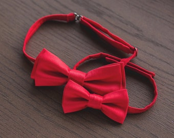 5th bow tie for FREE\Mens bow tie, red Bowtie