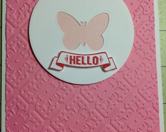 Cute butterfly note cards set of 2