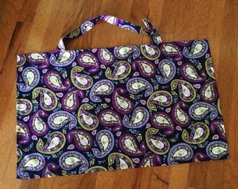 Purple Paisley Nursing Cover