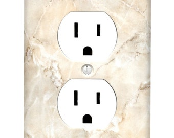 Ivory Marble Single Outlet Cover
