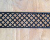 Decorative vent covers, HVAC register, powder coated black register