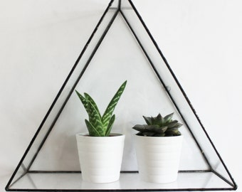Euclid Triangle Glass Wall Display Shelf