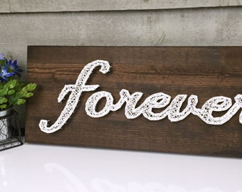 MADE TO ORDER Love You Forever String Art