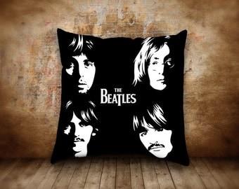 The Beatles Face Pillow Case Throw Home Decor Cotton Polyester