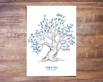 Wedding Finger Print Guestbook + Ink Pad