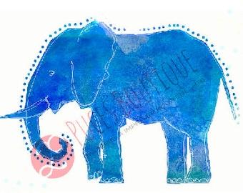 Lili The Elephant (blue)
