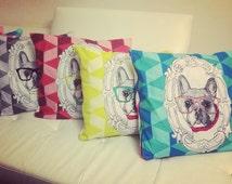 French Bulldog Oversized Cushion. 4 options. Frenchie lovers.