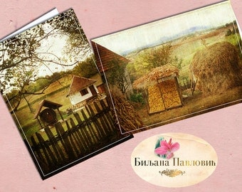 Post card, Digital, DIY, Printable, Landscape, Serbia