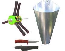 Chicken Plucker + MEDIUM Killing Cone + Swedish Knife (Home Processing Kit)
