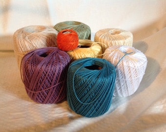 Large Lot of 7 Spools Cotton Thread Multi-Colors