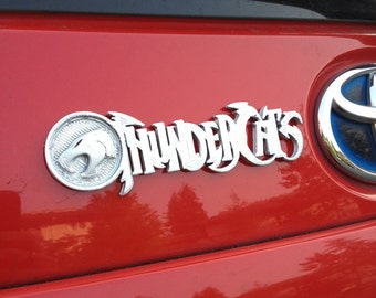Fanart 3D printed silver ThunderCats LARGE car decal/logo/magnet, great gift for nerd girl or boy