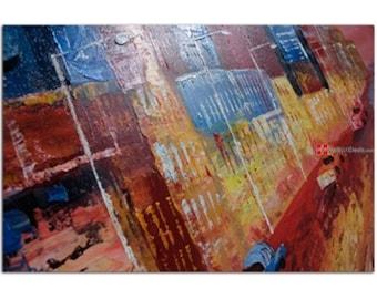 Busytown abstract art
