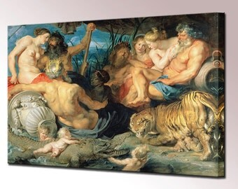 Rubens The Four Continents Canvas Wall Art Print Picture Framed Ready To Hang