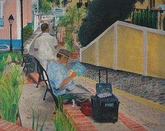El Senor Natal en El Viejo San Juan - Puerto Rican Art Limited Edition Giclee Prints