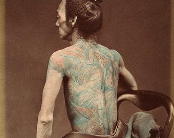 Tattoo - Tattoo Photograph - Vintage Tattoo Art - 1870's - Tattoo Wall Art - Tattoo Decor - Tattoo Artist - Tattoo Poster - Tattoo Design