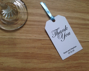 Personalised Wedding Thank-You Tags
