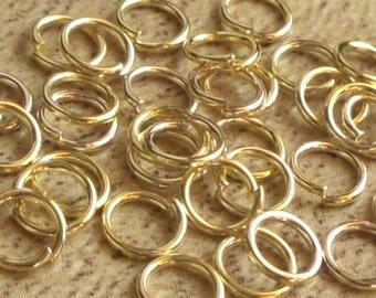 50 x anneaux de jonction ouverts couleur doré diamètre 6 mm