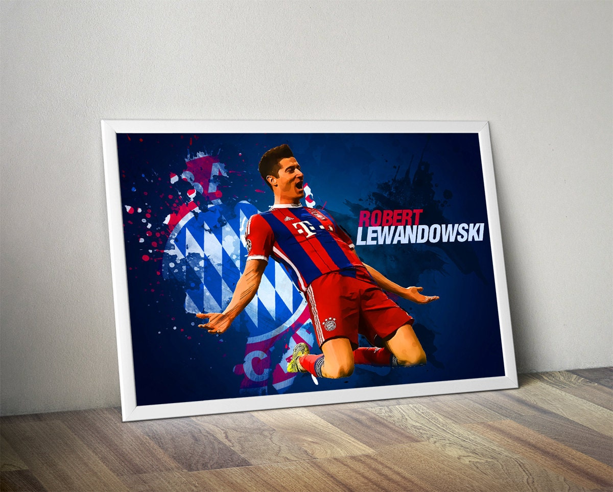 Lewandowski bayern munich poster bayern munich by for Poster jugendzimmer