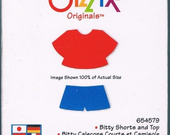 New Sizzix Dress-Ups BITTY SHORTS and TOP Die 654579   Works with Cuttlebug