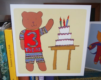 3 Today - 3rd birthday card