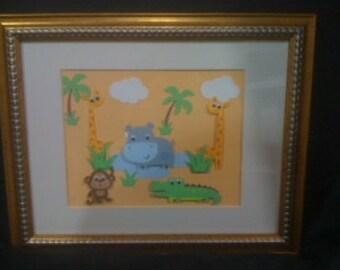Custom Framed Art Work for Child's Room