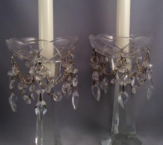 Crystal Leaf Chandelier Pendant Bobeche Set By