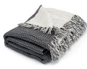 SPECIAL OFFER Linen/Cotton Blanket, Eco Blanket, Linen Grey Blanket, Linen Wrap, Linen Bed Throw