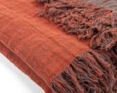 Linen/Cotton Blanket, Eco Blanket, Linen Blanket, Linen Wrap, Linen Bed Throw
