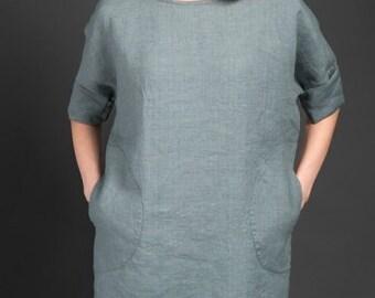 Linen women blouse, Pure linen blouse, Linen Summer, Spring Blouse, Linen clothing, Linen clothes, Organic Linen Blouse