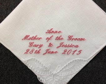 Ladies Personalised Handkerchief