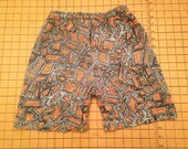 Vintage 1980s Geometric Print Shorts