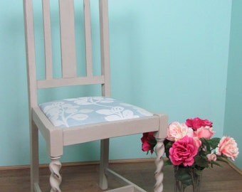 Country shabby chic chair with John Lewis fabric