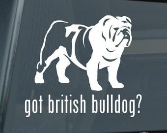 Got British Bulldog Die Cut Vinyl Sticker - 342