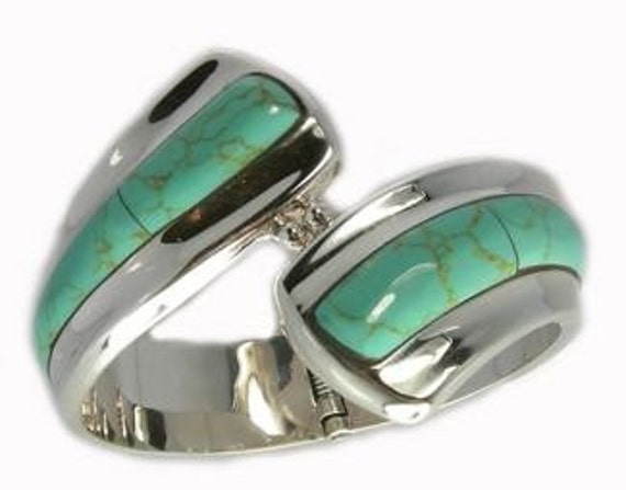 Turquoise or Gaspeite Cuff Bracelet