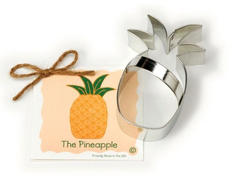 Ann Clark Pineapple Cookie Cutter with Recipe Card - Made in the USA-01-081