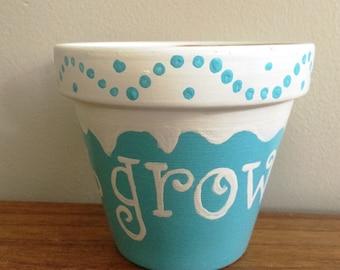 Let It Grow Flower Pot, Garden, Kids Decor, Patio Decor, Outdoor Decor