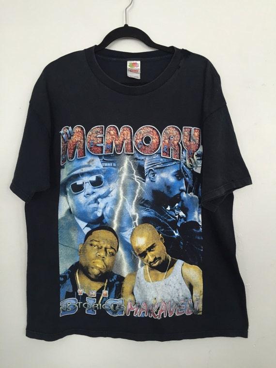 90er Jahre Tupac Biggie Shirt Jahrgang Rap hip Hop t Shirt