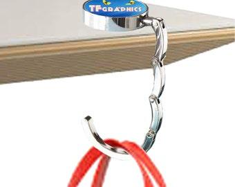 Beautiful Custom Foldable Table Bag Hanger   Print Your Personalised Design, Unique  Custom Gift, Personalised