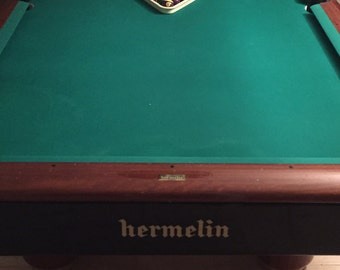 Perfect pool table and autographed