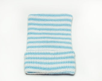 blue and white striped newborn baby boy hospital hat, baby boy, newborn boy, baby boy hat, newborn boy hat, boy hat