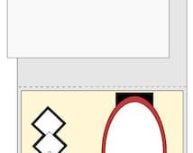 A2 size card layout 2 SVG